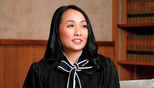 Kristy Yang's family moved to Sheboygan when she was 7. She is the first female Hmong American judge.