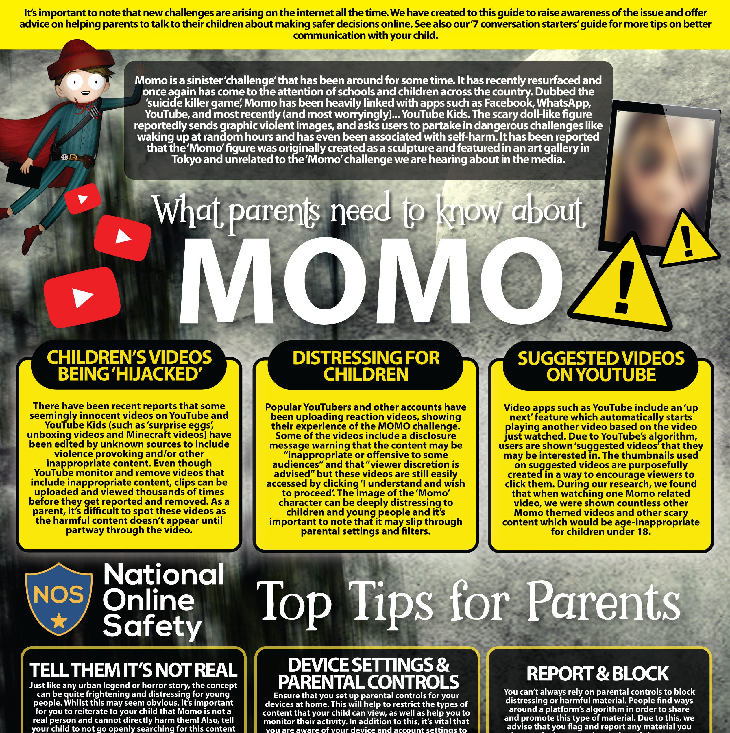 Momo challenge is a hoax: Here are tips teaching kids about online awareness and safety