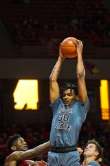 Missouri State forward Tulio Da Silva grabs a rebound during the first half of the Bears' Missouri Valley Conference game against Illinois State on Wednesday, Feb. 27, 2019, at Redbird Arena in Normal, Ill.