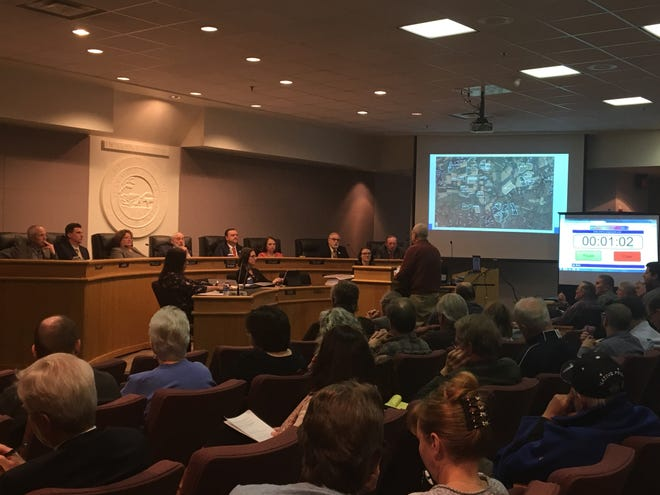The Augusta County Board of Supervisors listened to over 60 residents support or disprove of a massive solar facility at the public hearing held in February.
