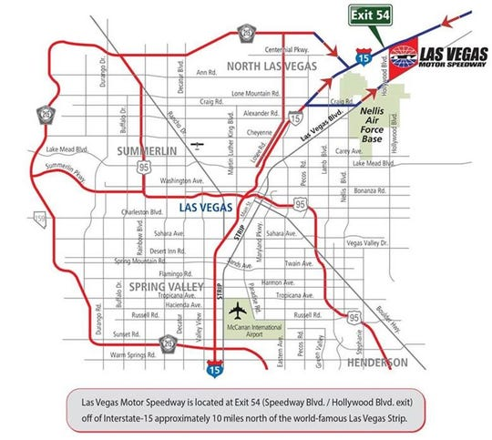 The Nevada Department of Transportation issued a traffic alert for Interstate 15 north of Las Vegas in anticipation of this year's Penzoil 400 at the Las Vegas Motor Speedway.