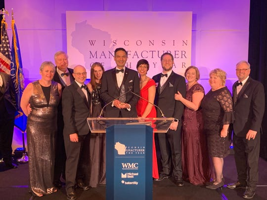 Gamber-Johnson won an Exceptional Customer Relations award at the Wisconsin Manufacture of the Year Awards at a ceremony Feb. 21.