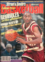 Florida State's James Collins was on the cover of Street & Smith's 1995-96 preview magazine.