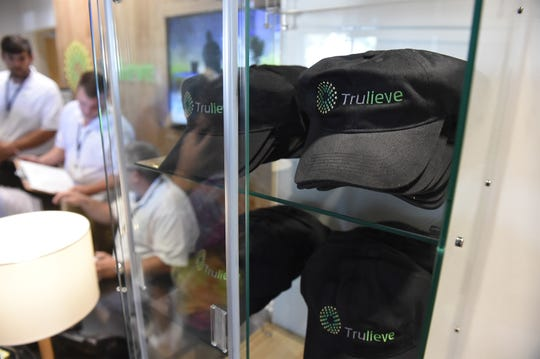 Hundreds of people lined up outside Trulieve, the first medical marijuana dispensary on the Treasure Coast, when  it opened its doors on Thursday, April 12, 2018, at 1814 Commerce Avenue in Vero Beach.