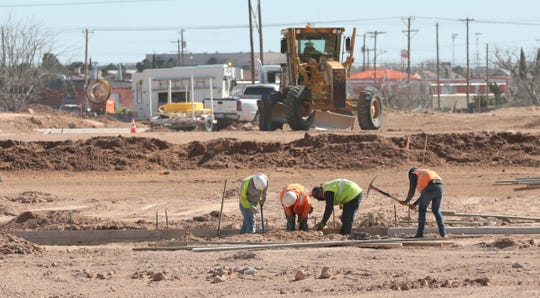 Work is underway on  Carefree Homes' Hidden Village subdivision, located on Ameen Drive, near Dyer Street.  A development company tied to Carefree was the successful bidder on 117 acres of El Paso Water board land located next to Hidden Village.
