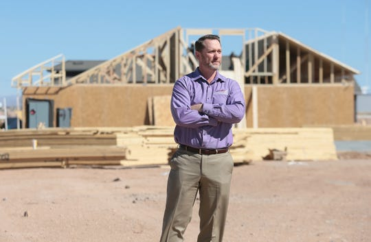 Greg Bowling, co-owner of Carefree Homes, plans to develop 117 acres of infill land in Northeast El Paso. His joint venture was the succesful bidder for the El Paso Water board's land, next to Carefree Homes' Hidden Village subdivision, where homes are now being built.