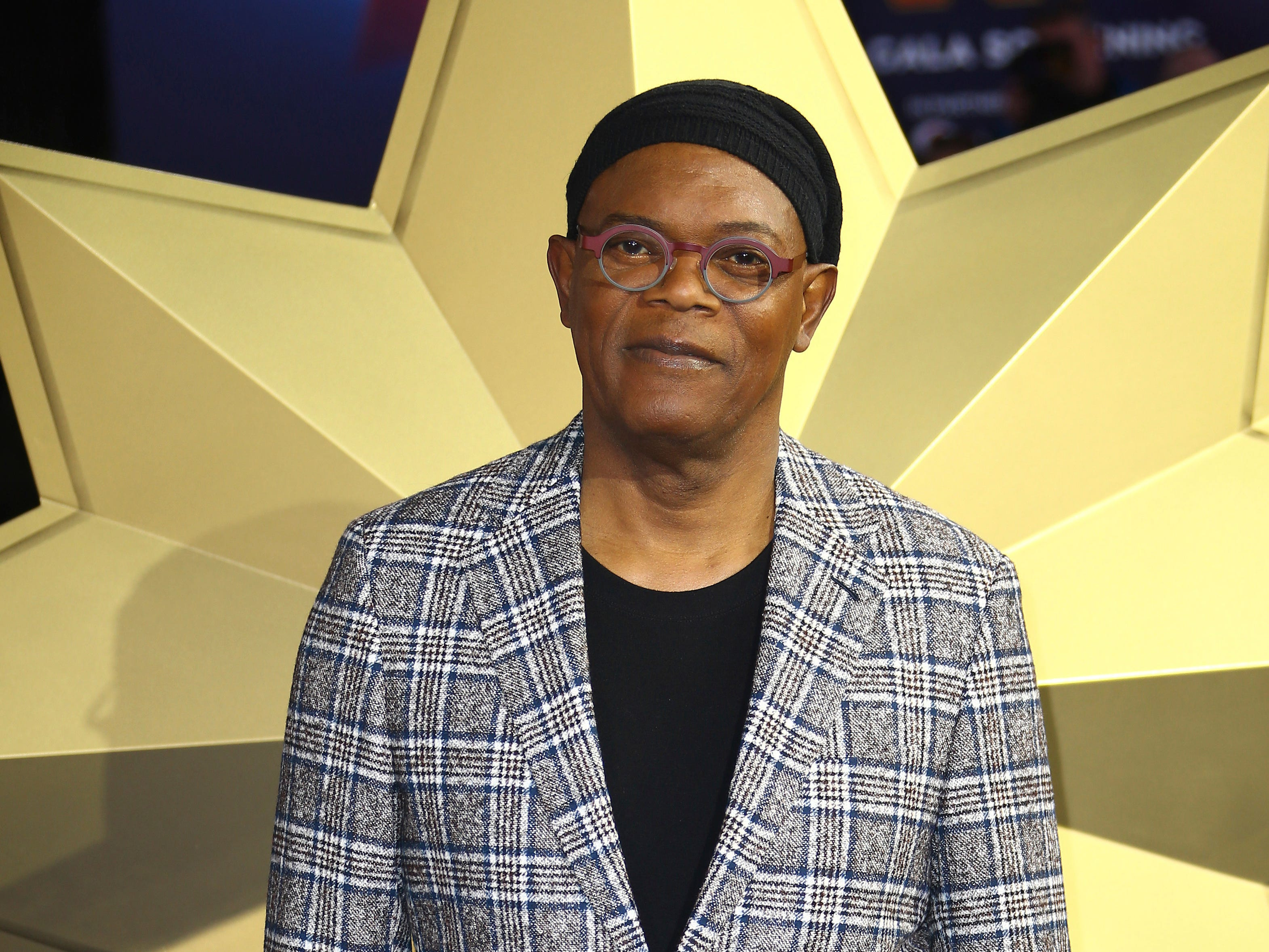 Actor Samuel L. Jackson poses for photographers upon arrival at the European Gala of Captain Marvel at a central London cinema, Wednesday, Feb. 27, 2019.