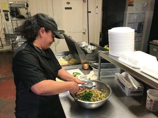 La Tilma's chef Valerie Estala is gearing for Lenten season with offerings like fish tacos with a mango pico de gallo topping.