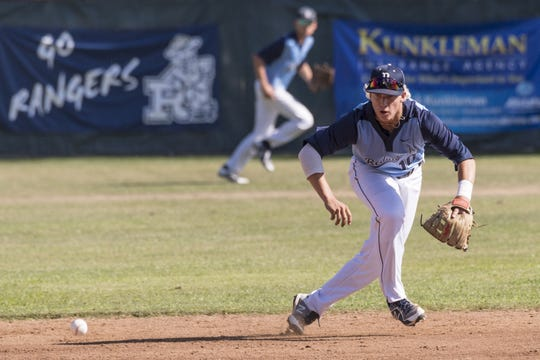 Redwood's Hunter Bryan is a three-year starter on the Rangers' baseball team.