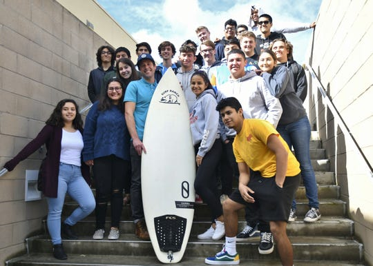Robert Young, a teacher at El Diamante, was gifted surf lessons from Lemoore's Surf Ranch by his homeroom class.