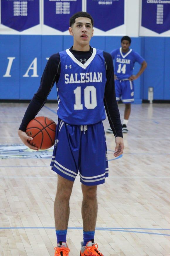 Salesian senior guard Joel Garcia was named all-league by the CHSAA.