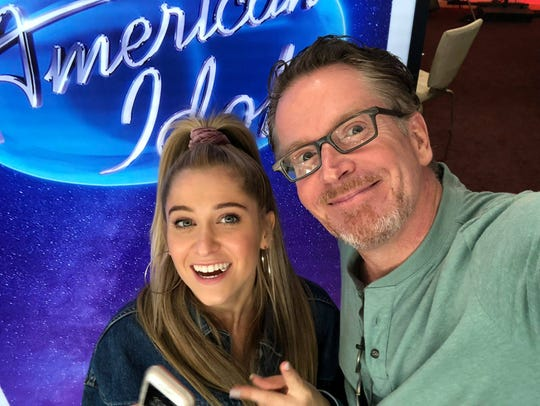 """Delaware native Margie Mays with her father Chris at her """"American Idol"""" audition."""
