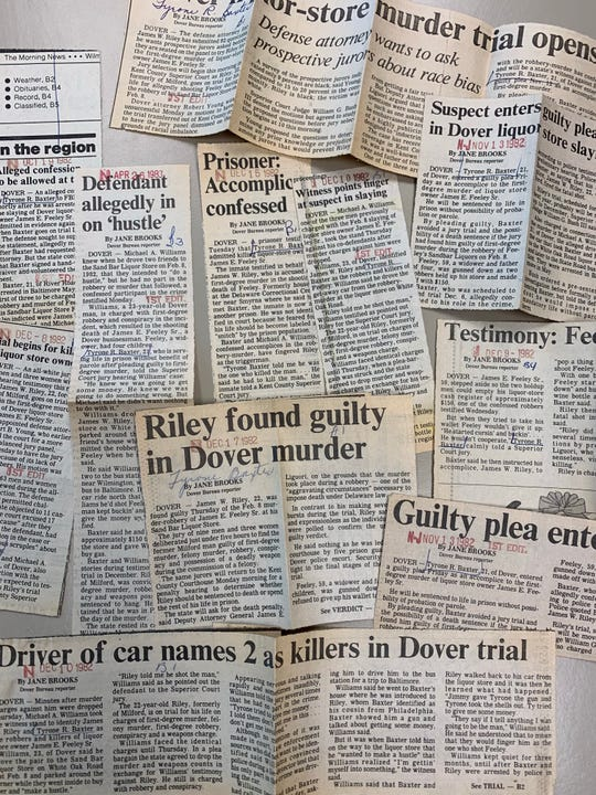 News Journal archive clips chronicle the murder and ongoing trials after the killing.