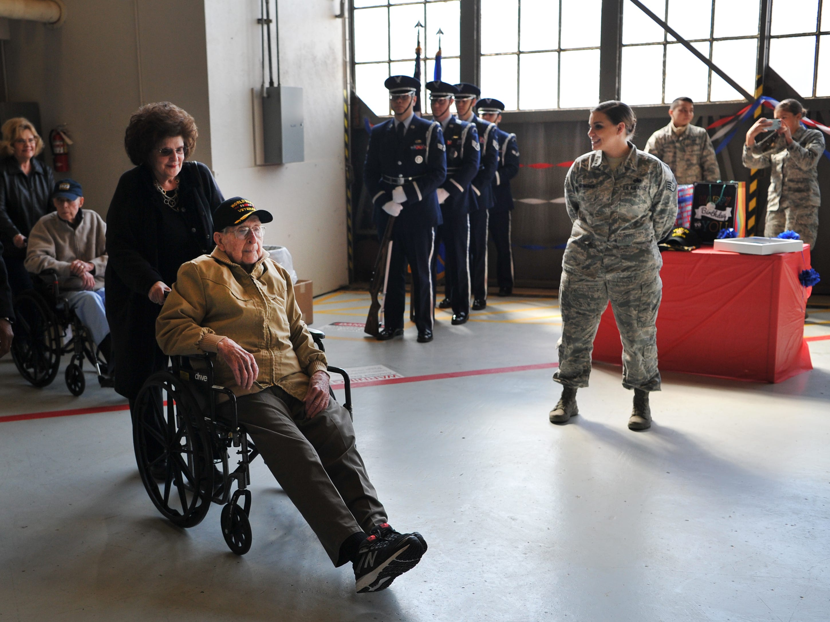 Sheppard Air Force Base helped celebrate Army Air Corps Staff Sgt. Joe Cuba's upcoming 100th birthday hosted by 365th Training Squadron, Thursday afternoon. Cuba became a social media phenomenon after he posted a request for 100 birthday cards for his 100th birthday.