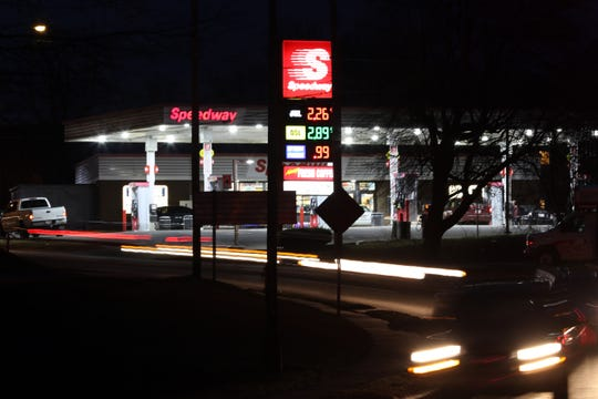 Evening traffic streams past the Speedway station on Blue Avenue in Zanesville. According to estimates released by ODOT, every county engineer's office in the state would get an additional $1.772 million in fiscal year 2020 from the proposed increase. However Muskingum County has the most miles of center-line roads in the state with 525 miles, according to the county engineer, and therefore should receive more money.