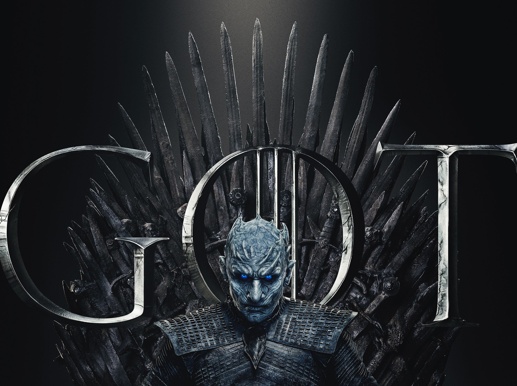Also ready? The Night King (Vladimir Furdik) looks terrifying as ever on the throne.