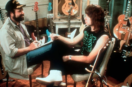 "Rob Reiner and Christopher Guest  in the classic scene from ""Spinal Tap."""
