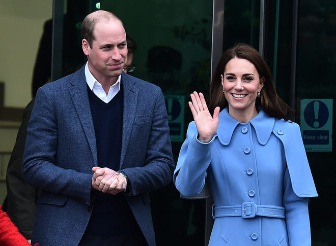 Prince William and Duchess Kate engage in a walkabout in Ballymena town centre on February 28, 2019 in Ballymena, Northern Ireland.