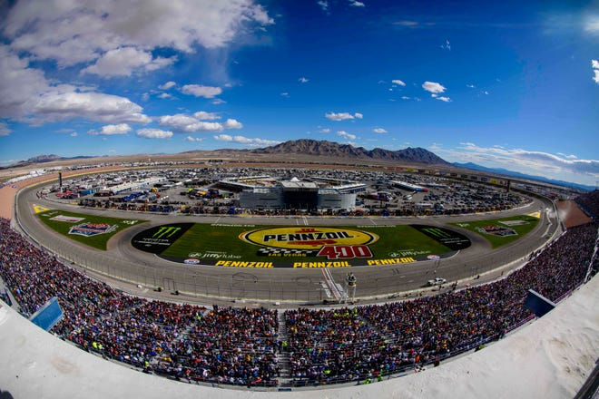 A general view of the track during the 2018 Pennzoil 400 at Las Vegas Motor Speedway.