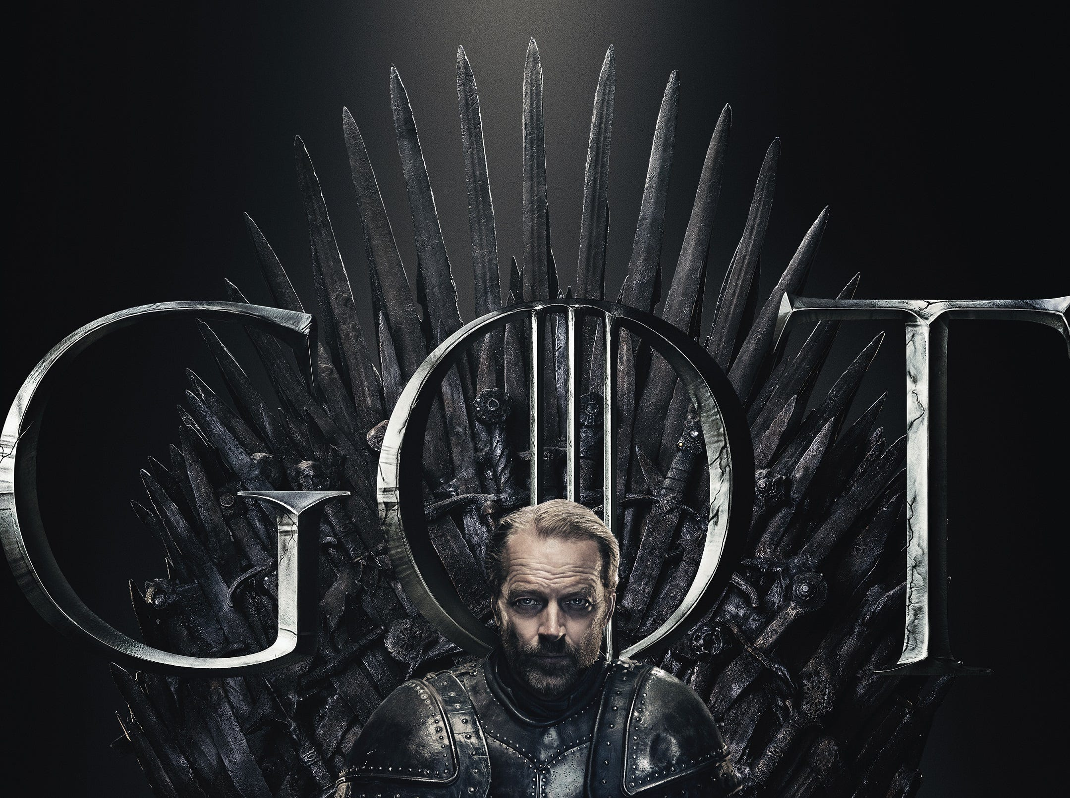 Jorah Mormont (Iain Glen) managed to look the most intense of any of the characters.