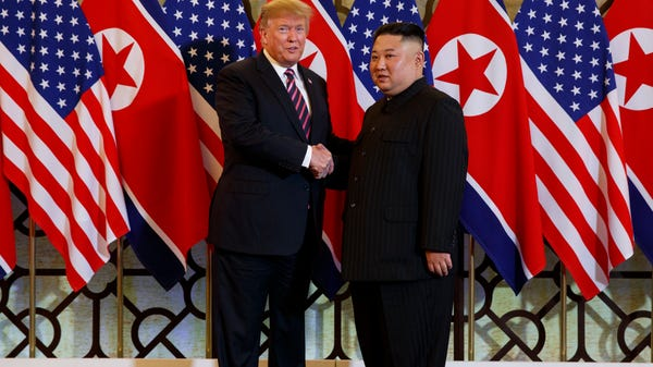 President Donald Trump and Kim Jong Un
