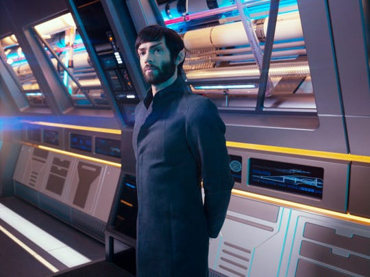 "Ethan Peck, following in the footsteps of Leonard Nimoy and Zachary Quinto, plays a younger version of Spock in CBS All Access's ""Star Trek: Discovery."""