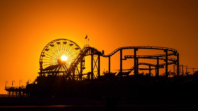 File image of the Santa Monica Pier at sunset.