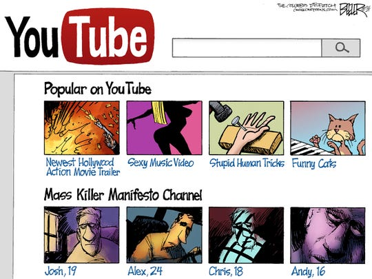 Mass killer YouTube channel