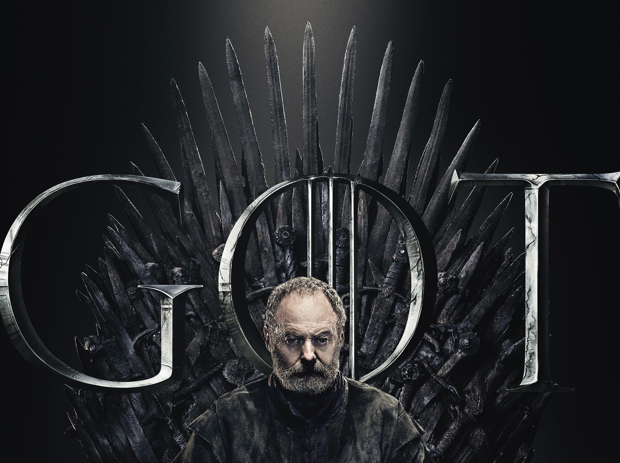 Like the father figure he is, Davos Seaworth (Liam Cunningham) mostly looks disappointed.