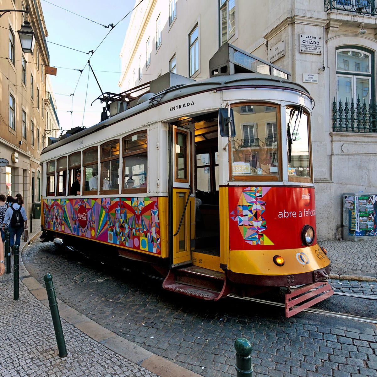 Lisbon's trolleys can get unbearably crowded, so have a plan if you want to ride one.