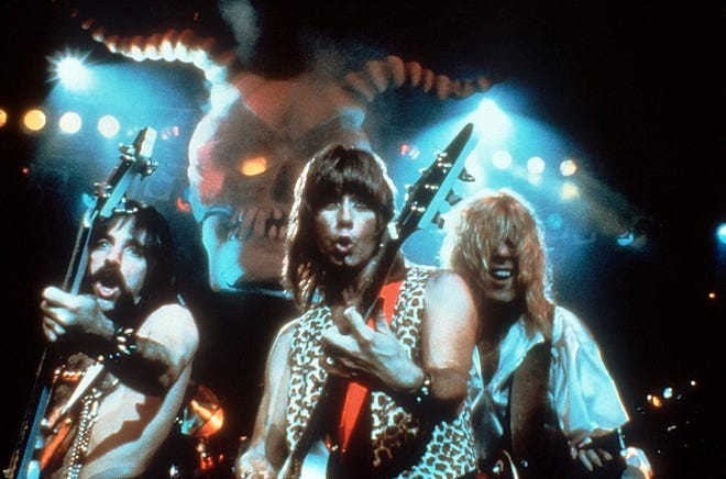 """Harry Shearer, Christopher Guest and Michael McKean in """"This is Spinal Tap."""""""