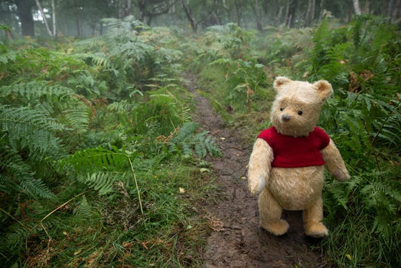 "Winnie the Pooh in Disney's live-action adventure, ""Christopher Robin."""