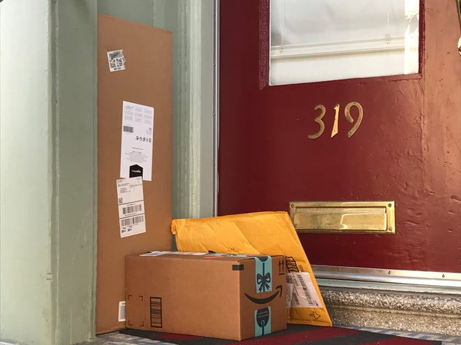 Packages delivered to a home in San Francisco.