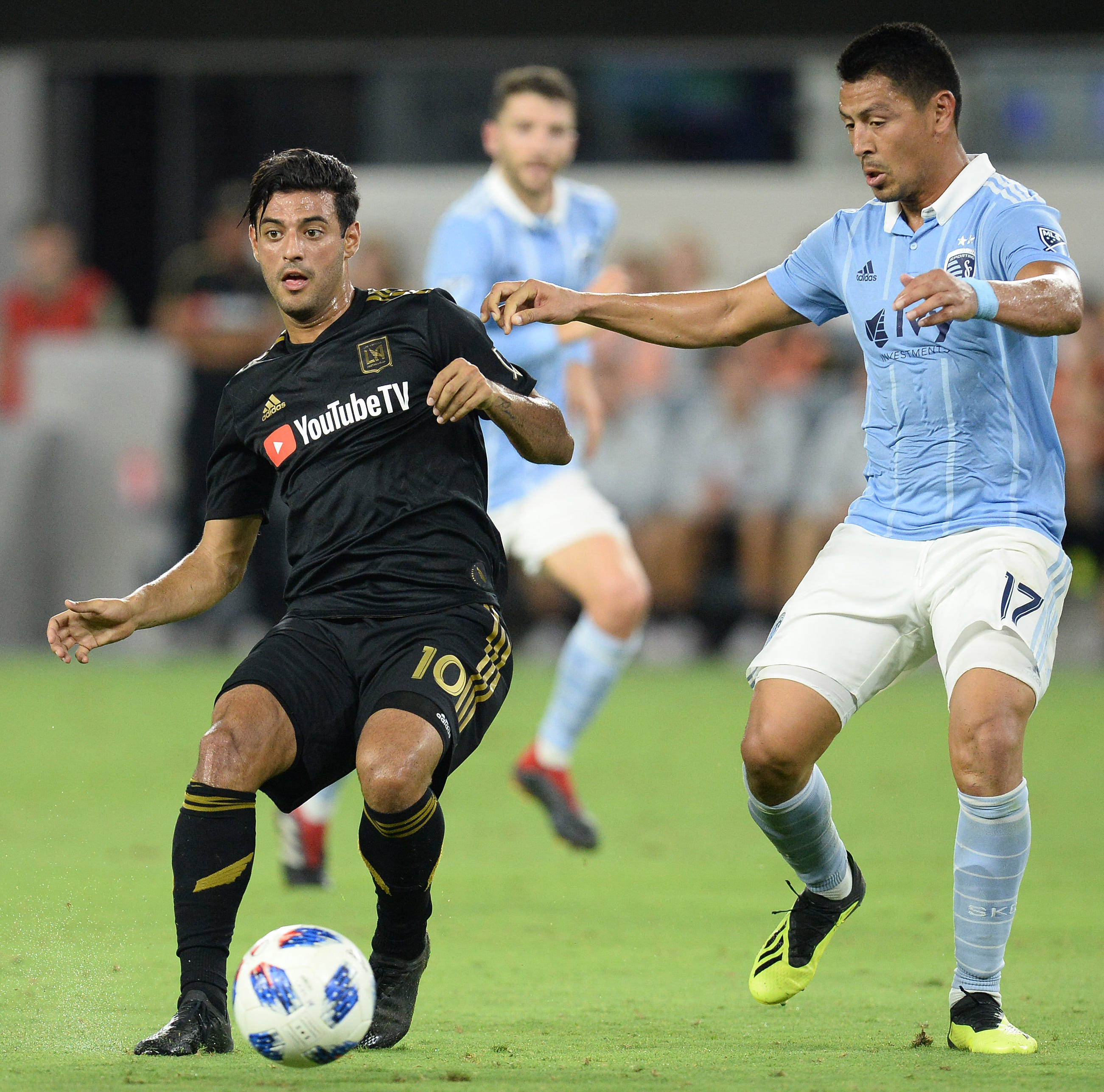 Carlos Vela and LAFC host Sporting Kansas City on Sunday.