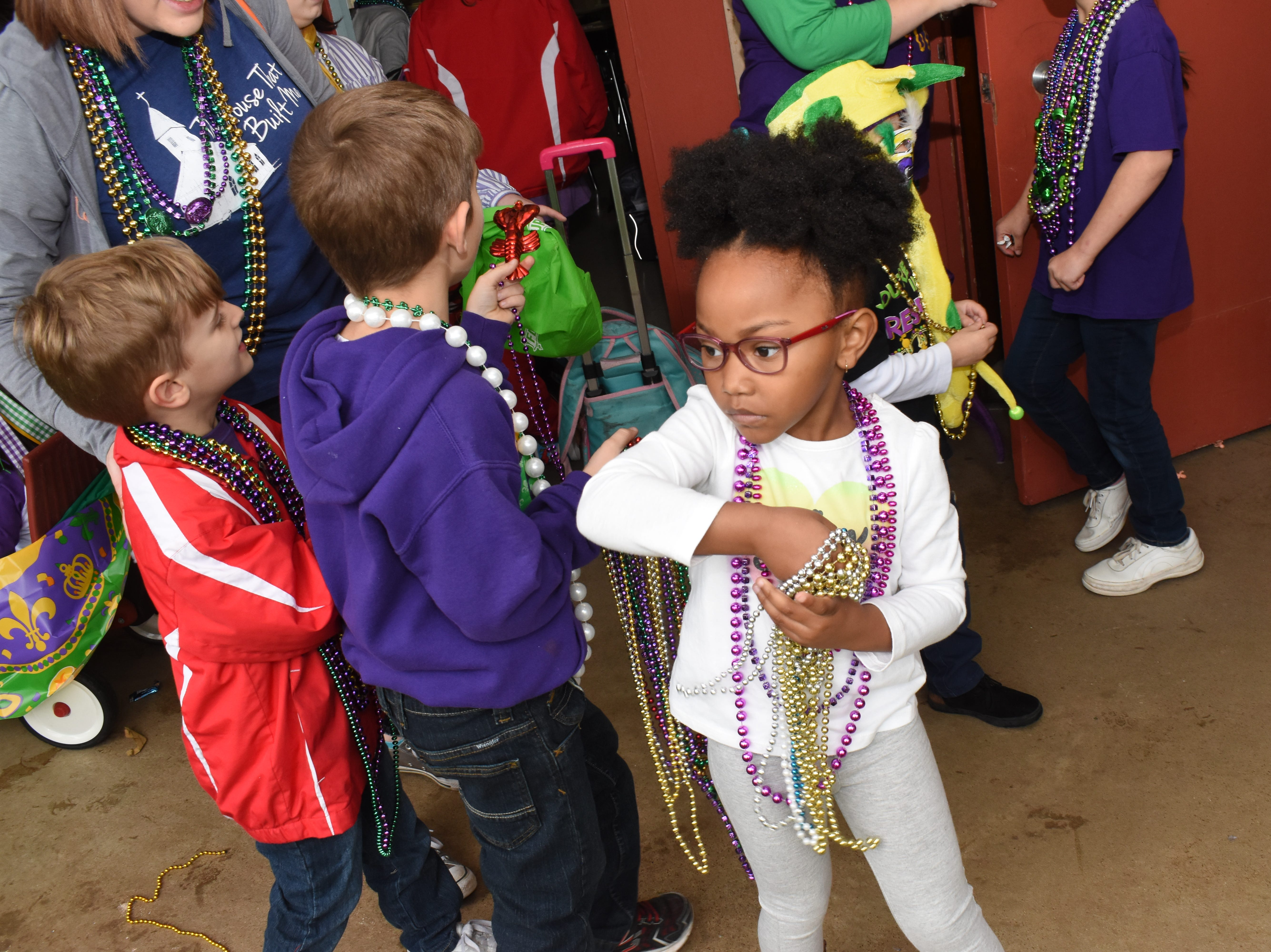 St. Frances Cabrini School crowned Taylor Noel as the Penny Queen and Bray Fee and the Penny Queen Friday, March 1, 2019. The crowning was followed by the pre-Kindergarten and Kindergarten Mardi Gras parade which proceeded throw the school.