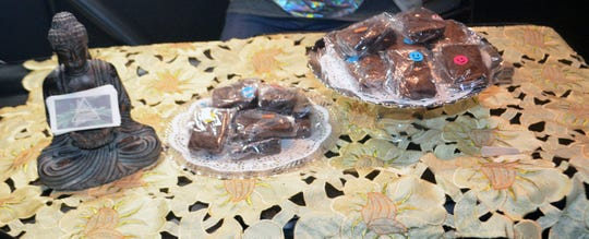 """Cannabis-infused brownies are sold at a black market """"pop-up"""" event where marijuana was illegally sold."""