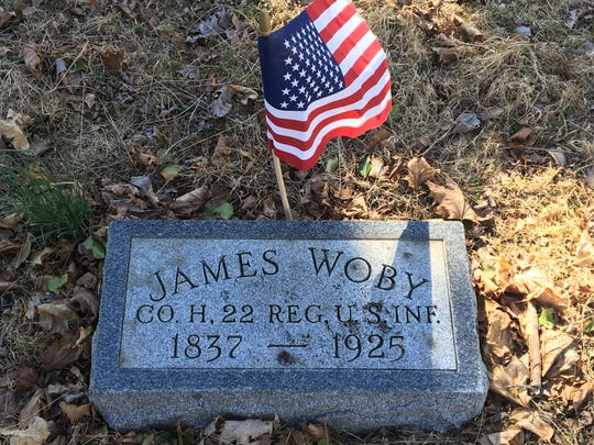 The grave of James Woby, a hero of the Civil War battle of Petersburg, lies near  George Ashby's in Allentown. Their graveyard will become part of Ashby Park.