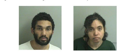 Michael Morgan, left, and Erika Cruz faced burglary and theft charges after Toms River police say they stole lottery tickets and cigarettes from a Route 166 shop.