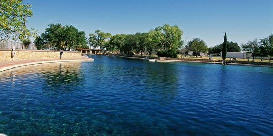 The 1.3-acre, spring-fed swimming pool at Balmorhea State Park reopened on March 1, 2019, after undergoing a $2 million rehabilitation project.