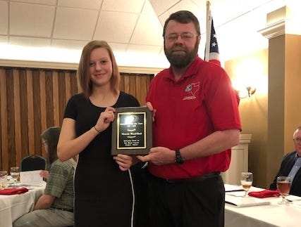 The Pecan Valley Kiwanis Club presented its annual Sophomore of the Year Award to Tori Wood-Rush at its Feb. 15 Sweethearts Awards Banquet. The award includes a $500 scholarship.