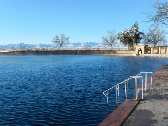 The 1.3-acre swimming pool at Balmorhea State Park is spring fed and holds a temperature of 72 to 76 degrees year-round.