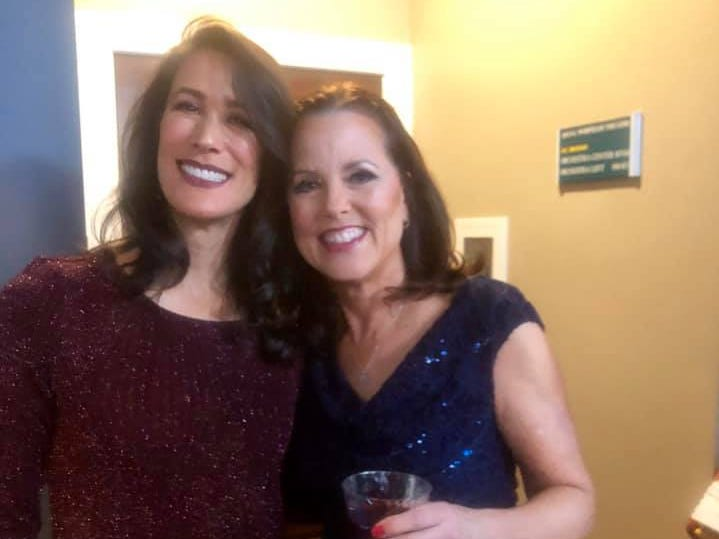 """Highland Brewing Co. president Leah Ashburn and Webb Investment Services president Laura Webb at the """"Dancing with the Local Stars"""" VIP reception Feb. 24."""