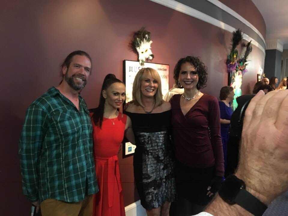 """Kenny Capps, Karina Smirnoff, Tracy Buchanan and Karen Chávez at the """"Dancing with the Local Stars"""" VIP reception Feb. 24, 2019."""