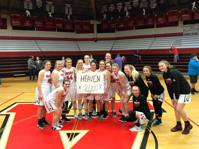 Avery County's Heaven Nelson scored her 2,000th career point in a second round win over Mitchell