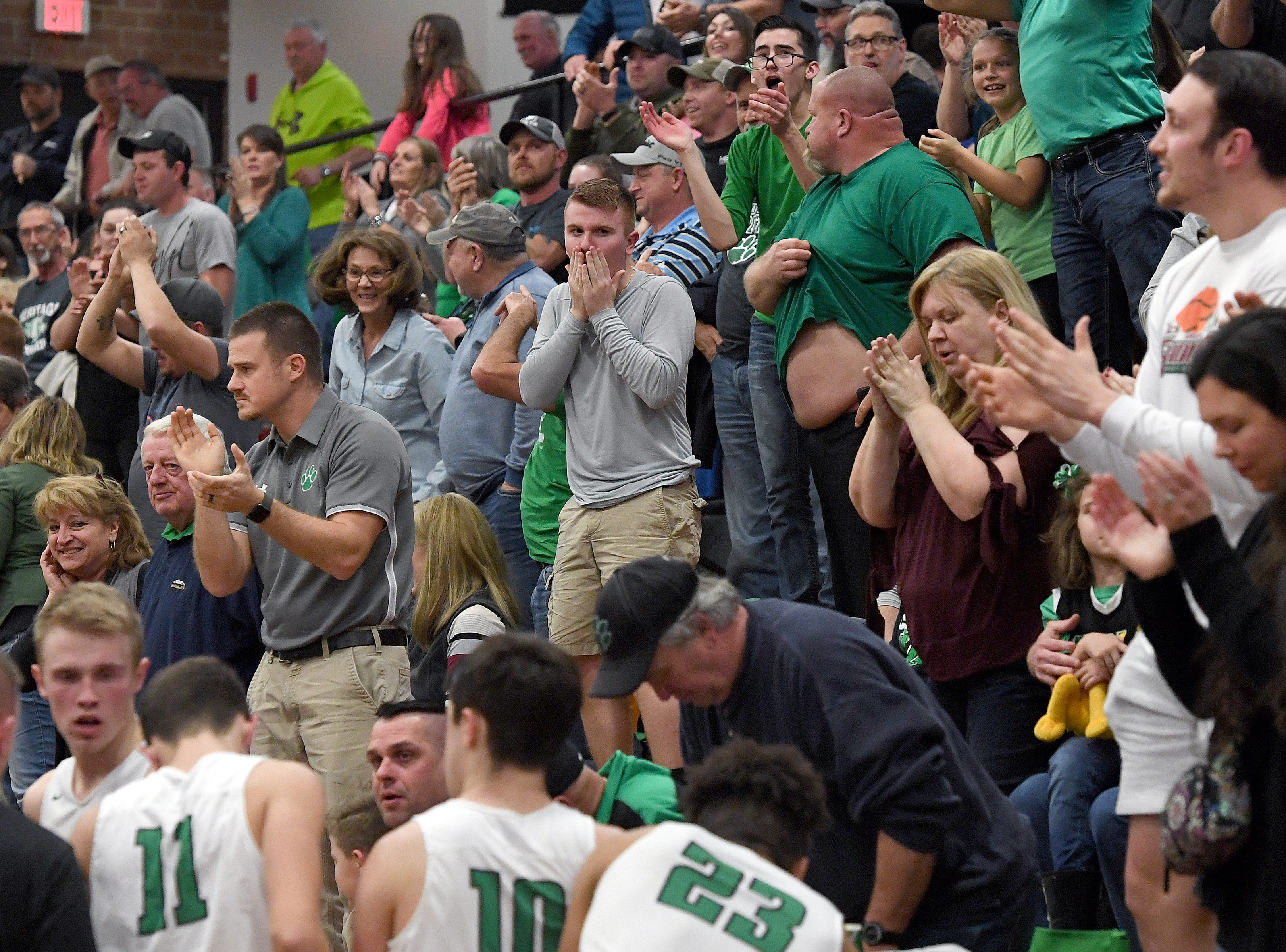 Mountain Heritage defeated Maiden 74-69 in overtime of their playoff game at Mountain Heritage High School on Feb. 28, 2019.