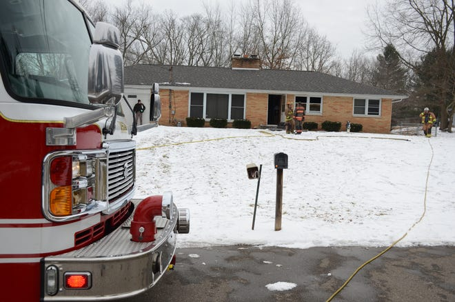 The body of a man was found inside this house after Pennfield Township firefighters were called Friday morning for a fire.