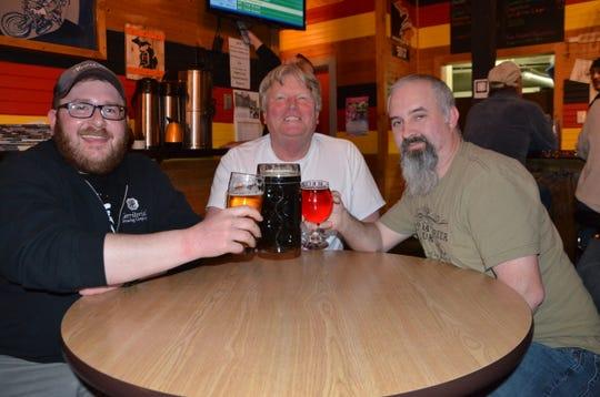 (L-R) Springfield SUDZ Society treasurer Dan Chapin, president Mike Giese and vice president Darren Avery.