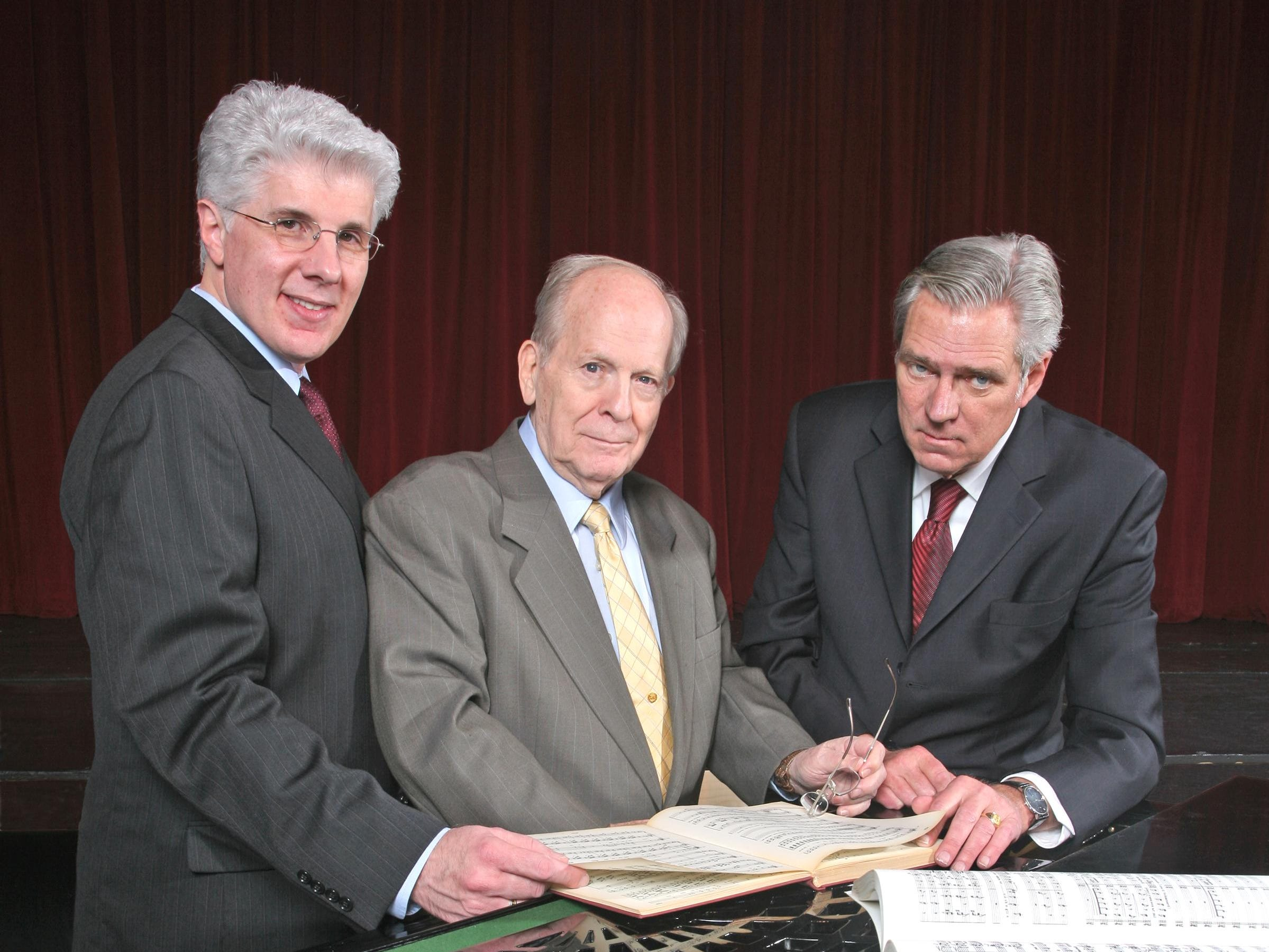 From left, Tri-Cities Opera's former artistic director Peter Sicilian, co-founder Peyton Hibbitt and senior artistic director Duane Skrabalak pictured in 2009.