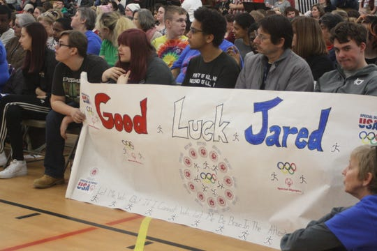 A pep rally was held for 16-year-old Jared Lamb at the Broome-Tioga BOCES main campus Friday afternoon. Jared will go to the International Special Olympics from March 14 to 21 in Abu Dhabi.