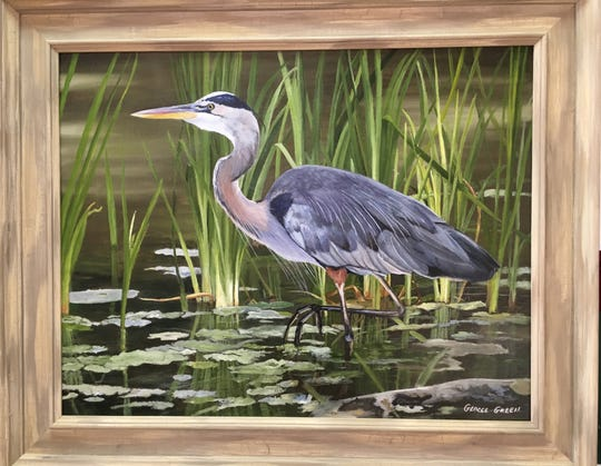 "George Green's ""Heron"" will be among the pieces on display during the Emerging Artists exhibit at Black Mountain Center for the Arts on March 10."